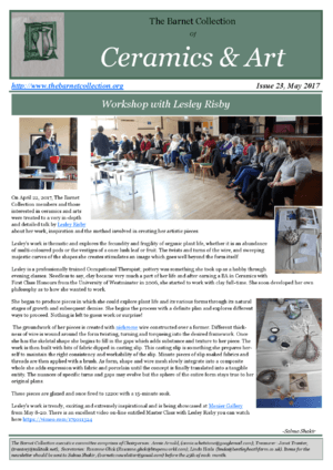 Newsletter Issue 23 - May 2017