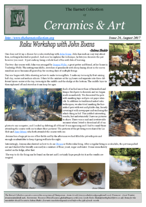 Newsletter Issue 26 - August 2017