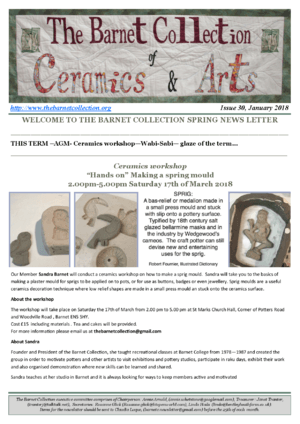 Newsletter Issue 30 - Spring Term 2018