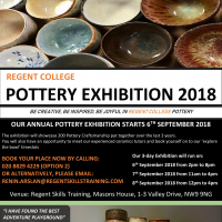 Pottery Exhibition Poster 2018
